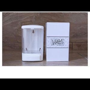 White clear soap dispenser